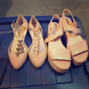 Two pairs Melissa shoes 8